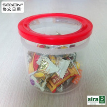 Transparent plastic christmas candy container, halloween candy container