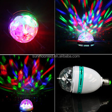 RGB Rotating Light LED holiday Light RGB e27 bulb black light party supplies