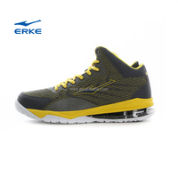 ERKE HOT sales mens brand professional basketball shoes with high ankle protection air cushion for wholesale