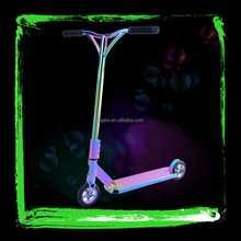 Electroplated Rainbow Adult Professional Freestyle Complete Comp End 2 Wheel Stunt Scooter