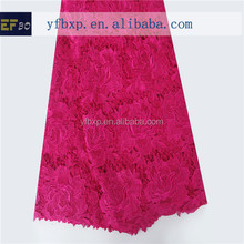 High quality low price flower design african swiss guipure cord lace / wholesale african multi coloured lace fabrics for women
