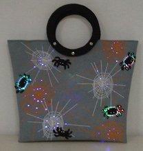 Fabric Fiber Optics Halloween bag