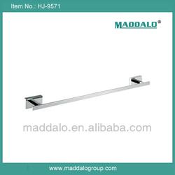 European style luxury bathroom single square towel bar brass chrome