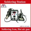 El aire caliente Estación de soldadura 2 en 1, Cautín, y la pistola de aire caliente de soldadura, estación de desoldar, precio