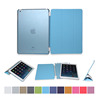 Hot selling and cheap price for ipad 5 case 3 folded PU and PC case for iPad air smart case cover