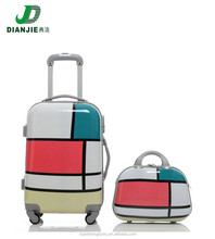 """2015 China Luggage Supplier ABS+PC Mother&Son Luggages, 24"""" Hard Case travel trolley luggage bags with Cosmetics Handbags"""