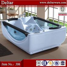 1800mm 2 person indoor hot tub, two side glass jacuzzy bathtub, freestanding bathtub popular acrylic bathtubs