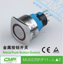22mm anti-vandal and waterproof 5 pin terminals metal illuminated square push button switches high quality