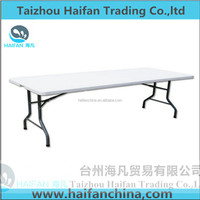 183*76*74cm high quality white color table/modern plastic folding table environment protection snack cartes table