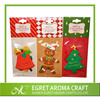2015 OEM design best seller hanging paper car air freshener Christmas tree shape scented car air