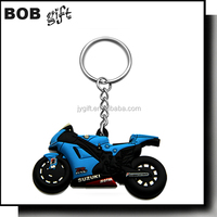 2015 soft pvc 3D motorcycle keychain/custom rubber keychain
