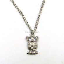 cheap owl necklace promotional fashion necklace