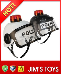 Police Helmet with Led Light and Music Safety Helmet with Chin Strap
