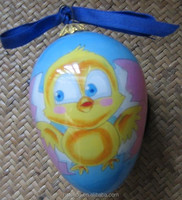 Inside Hand Painted Glass Easter eggs