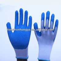 21s cotton liner latex rubber hand glove