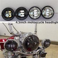 New motorcycle parts black passing lamps for harley-davidson, 4.5'' passing lamp led fog light for motorcycle Harley