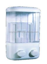 Manual liquid wIth plastic hotel public washrooms double wall mounted decorative manual liquid soap dispenser