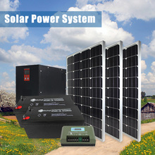 2015 off grid solar energy product with inverter, controller, batteries, panels