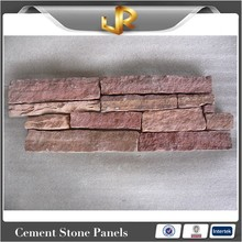 lilac stacked cement culture sandstone for wall decoration