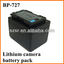 Full Decoded Chip BP-727 Battery for Canon Camera Battery LEGRIA HF R36 HF R38 HF R306 HD Camcorder