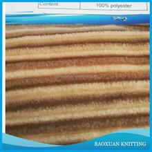 100%polyester dyeing rib polar fleece fabric