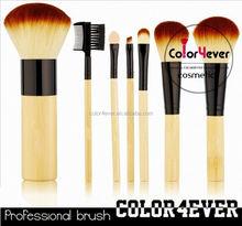 Hot sale !7pcs bamboo handle makeup brushes manufacturers china makeup kits and cosmetics