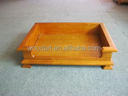 Wood dog bed christmas decorations balcony