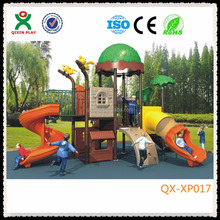 Adorable plastic castle playground/wood-like palyground/forest design playground QX-XP017