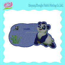 Unique fabric cartoon name sticker for cloth