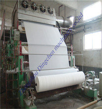 1760 mm bumf paper toilet paper kitchen towel paper making machine paper producing line