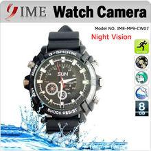 Fashionable design nightshoot camera watch,8GB HD 1080P watch DVR with night vision