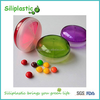 6 Six compartment travel green round transclucent round 7 days plastic pill box