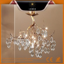 "2015 hot promotional Natural Bronze 28"" Crystal Chandelier Factory price"
