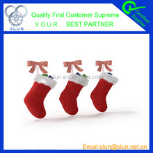 Popular christmas hanging decoration christmas stocking for home