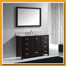 Foot standing/Marble top/Framed mirror/Storage cabinet/Wooden bathroom vanity SP-7110
