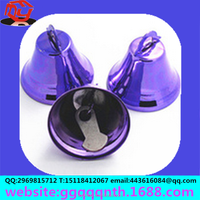 25mm Thailand Middle East England iron colorfull christmas jewelry accessories metal iron horn bell school bell hardware bell