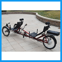 Hot Selling Climbing Electric Tandem Tricycle