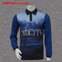 Sublimation cut and sew fish shirts designed