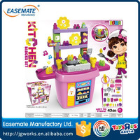 Hot sale blocks kitchen toy set with lights and music