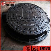 EN124 ductile iron circle manhole covers factory sale