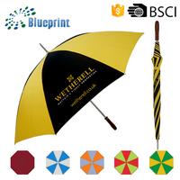 Pongee stick umbrella,newspaper print umbrella,metal stick umbrella
