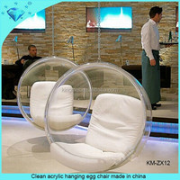 Clean acrylic hanging egg chair made in china