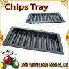Low Price High Quality 9 rows 450pcs plastic black casino poker chip tray