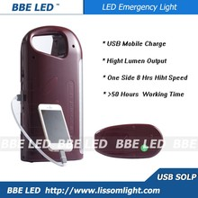 Solar rechargeable LED emergency lamp
