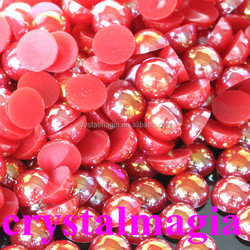 china factory wholesale ab color half round pearl , abs pearl in bag