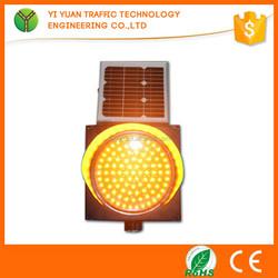 portable traffic trouble warning light solar powered led beacon
