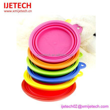 personalized silicone folding fancy standing dog bowls
