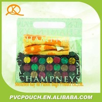 Hot sale around the world ! Fashion design PVC green plastic handbag durable