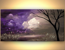 brush strokes high quality modern oil painting tree landscape