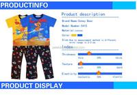 2015wholesale boy baby high quality sleep suit fashion long sleeve pajama for kids home wear suit kids pajama fabric